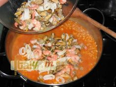 Seafood risotto (Risotto alla pescatora)
