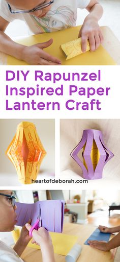 How fun! These DIY Rapunzel Inspired Paper Lanterns are so easy to make. Your preschooler will love making her own lantern with this craft. Disney Princess Crafts, Disney Crafts For Kids, Paper Crafts For Kids, Easy Crafts For Kids, Fun Crafts, Craft With Paper, Easy Preschool Crafts, Movie Crafts, Princess Theme