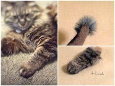 ■ 羊毛なおくんの手の植毛