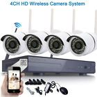 4PCS IP Wifi 4CH 720P CCTV NVR Outdoor Wireless Network Security Camera System