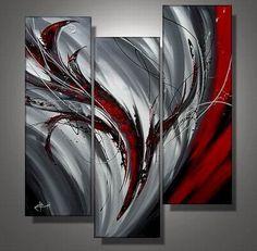 Ručně malovaný obraz - abstrakce 030