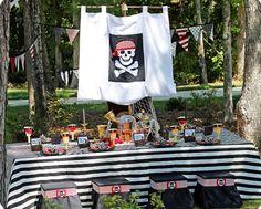Kindergeburtstag Deko für Jungs ideen piratenparty