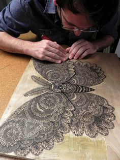 Moth: A New Woodcut Print from Tugboat Printshop  http://www.thisiscolossal.com/2013/10/moth-tugboat-printshop/