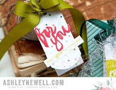 Project by Ashley Cannon Newell for Papertrey Ink - October 2015 - Wet Paint Holiday + Folded Tags die - #AshleyCannonNewell #PaperSuite #PapertreyInk