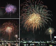 """Sumida River Fireworks Festival""; 20000 Flowers Light the Night"
