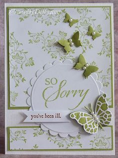 Get well card with butterflies