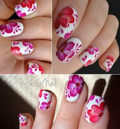 Love this beautiful flower design and these colors!
