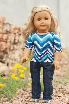 Skinny Jeans for American Girl Dolls or Other 18 Inch Dolls ~ Doll Clothes