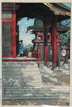Kawase Hasui (1883-1957): Fudo Temple at Meguro, Tokyo, 1931
