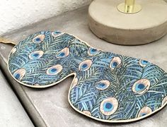 """Limited Edition Eye Mask in Blue Peacock added by @christinaboegkjaer """"Sore feet and tired eyes."""" www.youheshe.com"""