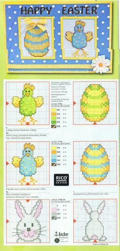 easter cards with embroidery patterns | make handmade, crochet, craft