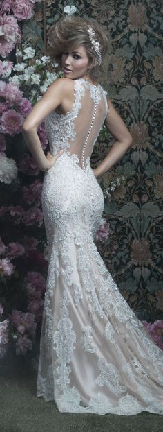 lace back wedding dress by allure couture allurebridals