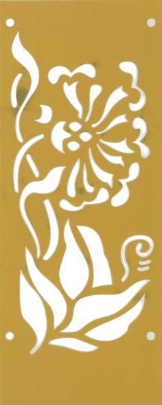 great flower stencil