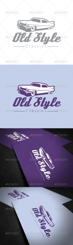 Old Style Car Logo Template #GraphicRiver Easy to edit with organized layers. Vector