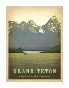 Grand Teton National Park, Wyoming Posters by Anderson Design Group at AllPosters.com