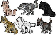 Los lobos de los Stark.