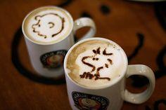 Peanuts Latte Art
