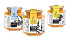 Client: Tauzer Apiaries ~ Project: Sola Bee Farms honey packaging ~ Design Firm: UNIT partners #honey #packaging #design #jar #brand #identity #package
