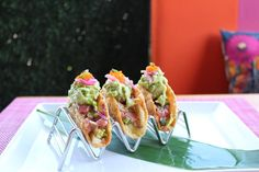 Spicy tuna tacos: rispy wonton shell, avocado, cabbage pickled onions + masagoSumoMaya Mexican Asian Kitchen Scottsdale, AZ