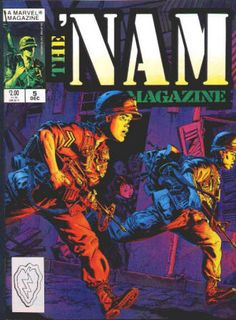 The 'Nam Magazine #5 December 1988 from a #1 - 5 run, NM-NM/M, 2 stories from the Marvel comic book series reprinted in each issue with extra material, Michael Golden covers and artwork in all. All 5 for $22