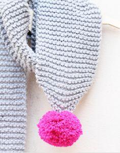 pom scarf pattern free