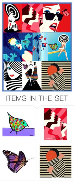 """Colorful Collage"" by jojona-1 ❤ liked on Polyvore featuring art"