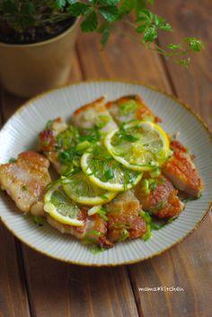 爽やか!レモンバターのネギ塩トンテキ*梅雨時期の洗濯にはコレッッ!!|レシピブログ