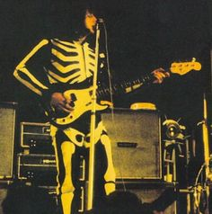 John Entwistle (The Who) In fantastic 'skeleton suit' The best bass player ever!
