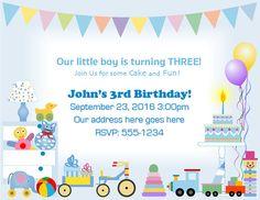 Boy's Birthday Party Invitation   #BoyBirthday #BirthdayInvitation #KidBirthday #ChildBirthday #Etsy