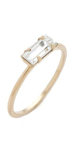 Bing Bang Tiny Baguette Ring | SHOPBOP | Use Code: INTHEFAMILY25 for 25% Off
