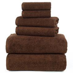 6 Premium 100/% Egyptian Cotton Hotel Towel Set Chocolate Brown Soft Bath Towels