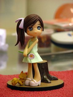 Polymer Clay Girl with Daisy