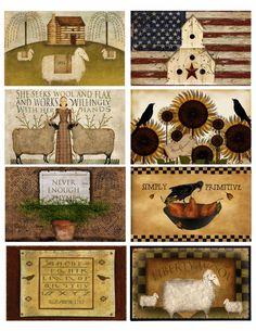 Primitive Labels Download & Print Sheet of 8 by MarysMontage, $3.50