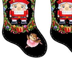 Christmas stocking Nutcracker Ballerina fabric by granny'shutch