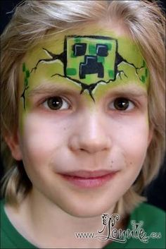 Image result for simple minecraft face paint