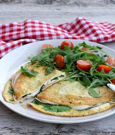 Omelett med tubeost - LINDASTUHAUG