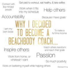 When I decided to become a coach, I had no idea that it would already change my life so much. I look forward to working, to learning more, to engaging with my team, and to watching us all succeed!  I had debated the decision for quite some time, until I finally decided to take the leap, and I couldn't be happier! -------------------------------------------- I have a no obligations 3-day Sneak Peak into Coaching group coming up soon for you to see what it is that I do, how it has changed my…