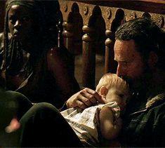 Rick and Judith Grimes ~ Richonne ~ Michonne - The Walking Dead