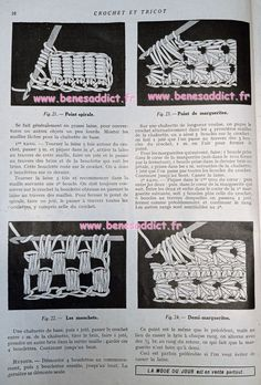 ⋆ Partons Crocheter et Tricoter en 1925 avec 72 SUPERBES modèles! ⋆ Le Point, 1920s, Crochet Top, Embroidery, Women, Crocheting, Big Wool, Loom Knit, Locs