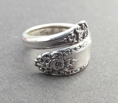 spoon ring...I want one!!! Must be this pattern...Prelude by International Silver