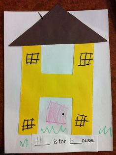 H is for house letter H Pre-K craft