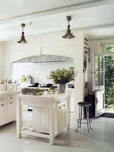 great kitchen with dutch door