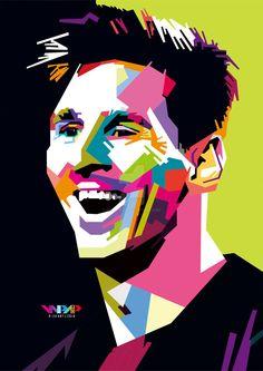 Lionel Messi in WPAP by RioArfaza.deviantart.com on @DeviantArt