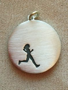 Sterling Silver female runner necklace