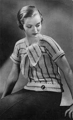 Vintage Knit striped sweater. pattern available on etsy: http://www.etsy.com/shop/nostalgiarules