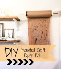 DIY mounted craft paper roll - perfect for decorating for any day or holiday
