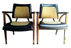 1960s Walnut  Chairs, Pair on OneKingsLane.com