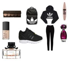 """""""fashion"""" by chanaderw on Polyvore featuring adidas, EAST, NARS Cosmetics, Maybelline and Gucci"""