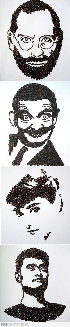 Coffee beans Art !