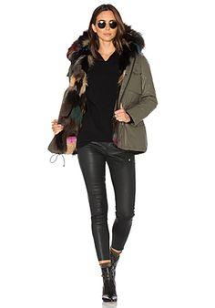 SAM. Multi Kate 4-in-1 Jacket with Fox Fur in Army & Multi | REVOLVE
